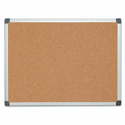 MasterVision CA051170 Value Cork Bulletin Board with Aluminum Frame  36 x 48
