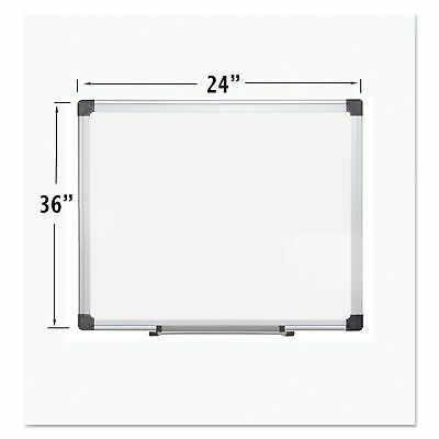 MasterVision CR0601170MV Porcelain Value Dry Erase Board  24 x 36  White
