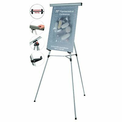 """MasterVision FLX09102MV Telescoping Tripod Display Easel  Adjusts 35"""" to 64"""""""