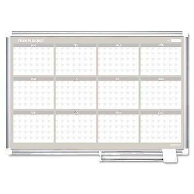 MasterVision GA03106830 12 Month Year Planner  36x24  Aluminum Frame