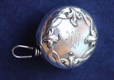 "1903 Ketcham & McDougall STERLING SILVER 1"" Brooch Retractable Chain Pencil Hldr"