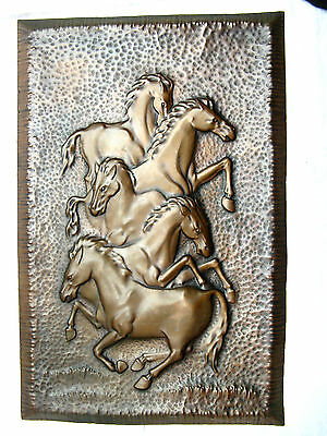70´s LAURANA RAME D`ARTE relief copper wall plaque / Wandbild Italy 88 x 57 cm