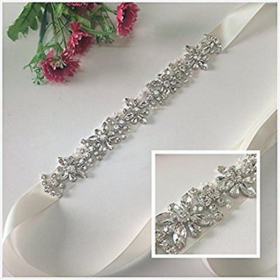 TRLYC Blush Bridal/Wedding Sash Crystal Bridal Belt Crystal Rhinestone Applique
