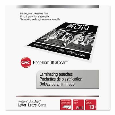 Swingline GBC 3200654 UltraClear Thermal Laminating Pouches  5 mil  9 x 11 12