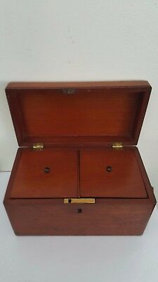 Antique Wooden Tea Caddy