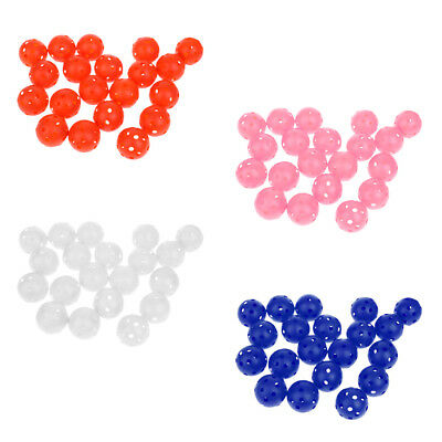 20 Pieces Plastic Hollow Perforated Practice Tennis Ball Training Golf Balls