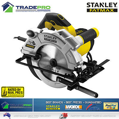 "Stanley® Fatmax Circular Saw 190mm 7 1/4"" 1600w Cut Off Saw with Case New Model"