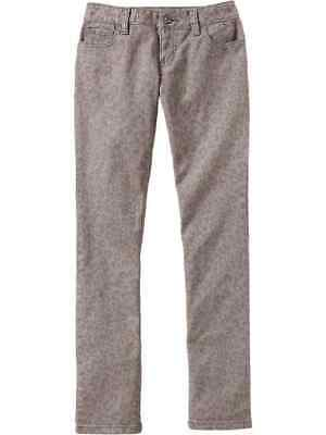 Old Navy Girls Gray Leopard Print Slim Skinny Jeans Pant Size 8 Youth NWT