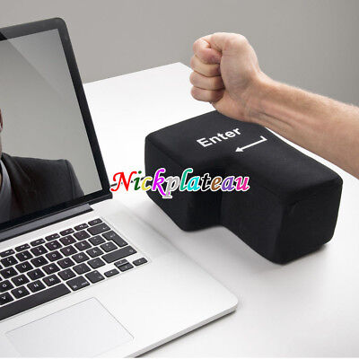 Big Enter Anti Stress Relief Supersized Enter Key Unbreakable USB Pillow New