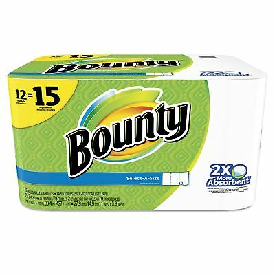 Bounty 95007 Select-a-Size Perforated Roll Towels  2-Ply  White  6 x 11  79Roll