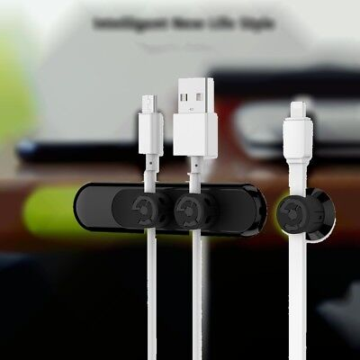 New Desk Tidy Organiser Cable Drop Clip Wire Cord Lead USB Charger Holder Fixer