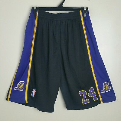 NBA Basketball Shorts Mens Size Small-Medium Lakers Kobe Bryant #24
