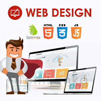 Design your Custom Full 4 Pages Website Web Design w Responsive Mobile Friendly