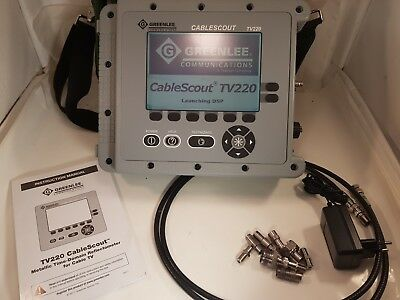 Tektronix GreenLee CableScout TV220 Coax CATV TDR Cable Tester TV-220 TV 220