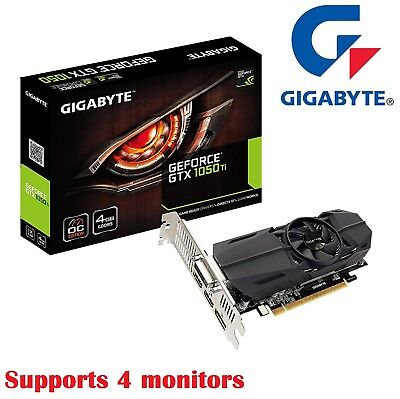 Gigabyte Nvidia Geforce GTX1050 Ti 4GB Graphic Card OC 4K Video Low Profile HDMI