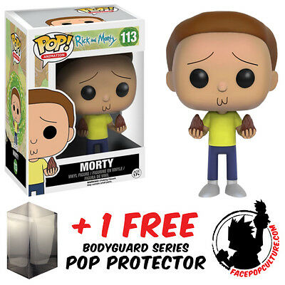 Funko Pop Rick And Morty Morty Vinyl Figure + Free Pop Protector