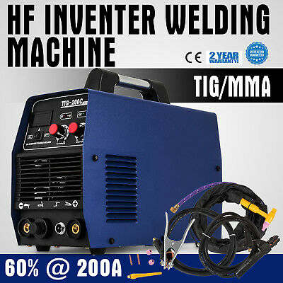Inverter Welder 200A TIG MMA Welding Machine Stick Welder 60%@200A HF Efficient