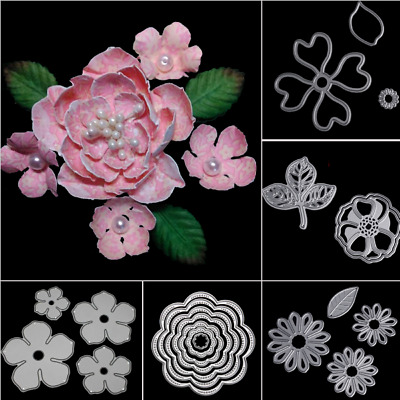 Flower Leaves Metal Cutting Dies Scrapbooking Embossing Paper Cards Decor Craft