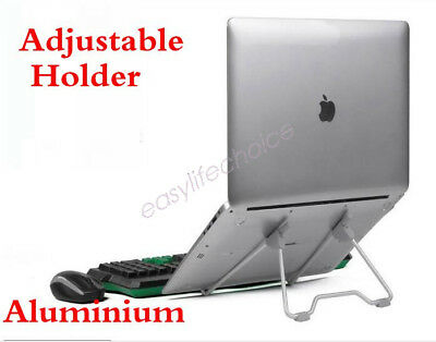 Laptop Stand Aluminium iPad Holder Folding Adjustable Notebook Cooling Ergonomic
