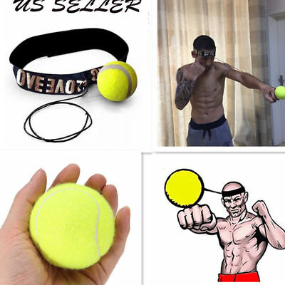 Fight Ball With Head Band For Reflex Speed Training Boxing Combat Exercise Tool