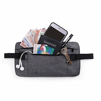 TOURIT Travel Money Belt with RFID-Blocking Hidden Wallet Belt Bag for Women Men