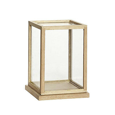 Large Glass Display Oak Cover Dome With Wooden Base Frame 40 cm