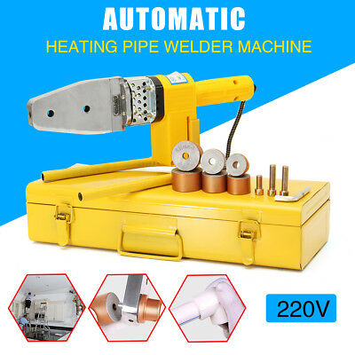 Automatic Electric Heating PPR PE PP Tube Pipe Welding Machine+ Heads+ Stand+Box