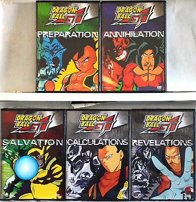 Dragon Ball GT Series Complete Collection Set 2  All Uncut  5 DVD Vol 6 7 8 9 10
