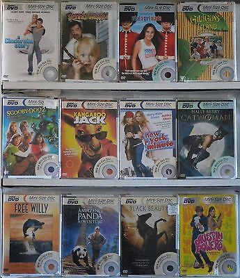 Lot of 12 Family Comedy Mini DVD Movies Cinderella Story Free Willy Scooby Doo
