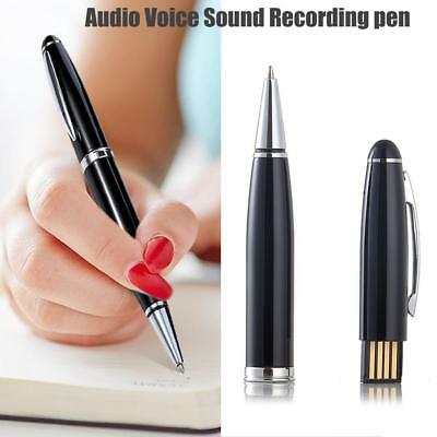 SPY AUDIO DIGITAL VOICE RECORDER IN REAL WORKING PEN 8GB Pen BLACK RECHARGEAB KG