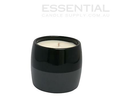 Ceramic Candle Jar 2 tone Black/Grey - 400ml x36