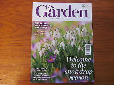 "RHS MAGAZINE ""The Garden"" FEBRUARY 2012 - Flowers Plants Horticulture - VGC"