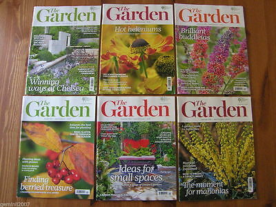 "RHS MAGAZINE ""THE GARDEN"" 2012 Set of 6 (b) - Flowers Plants Horticulture - VGC"