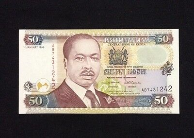 Kenya UNC 50 Shillings 1996 Banknote World Currency Paper Money