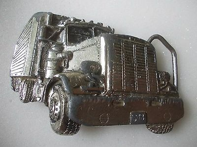 "Vintage Belt Buckle, Foden Truck, Lorry, Made By ""Ibex"". Cast Metal"