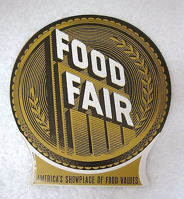 1950s FoodFair Food Fair Grocery Store Advertising Needle Pack Round T1