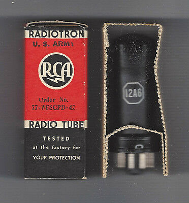 12A6 radio valve - old stock in original box - c1940s
