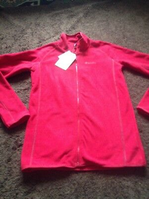 BNWT Girls Age 11-12 Years Red Fleece Jacket