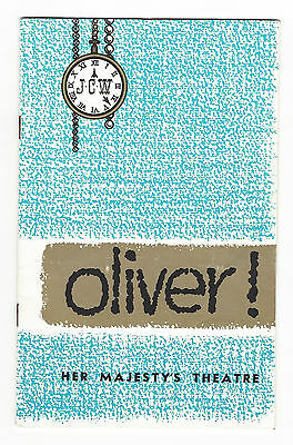 1961 OLIVER programme - Her Majesty's Theatre Melbourne - 36 pages