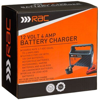 RAC 4 Amp Battery Charge Suitable for lead acid batteries only.