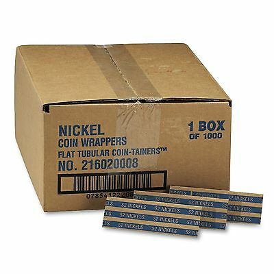 Coin-Trainer Company Pop-Open Flat Paper Coin Wrappers - Nickels - 1,000 ct.