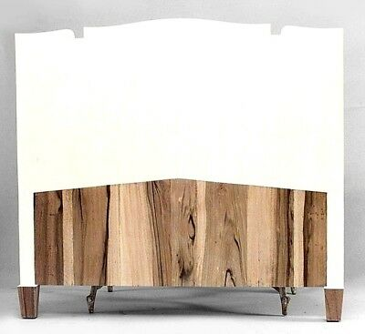 French Art Deco Style (Modern) Off-White Colored Shagreen Queen Size Headboard