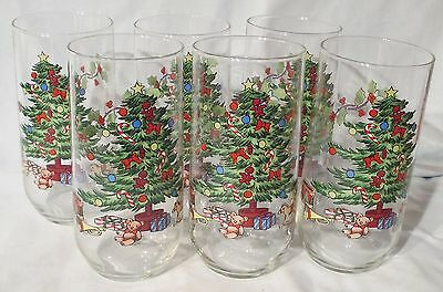 Tienshan Holiday Hostess Tall Glass Tumbler set of 6