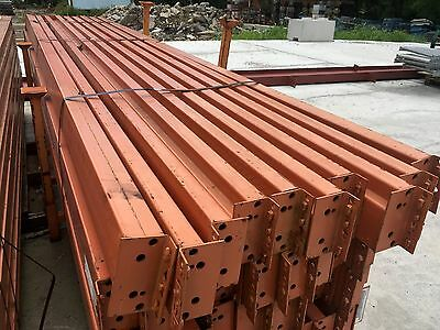 """Used Teardrop Pallet Rack Shelving Racking Sections scaffolding one beam 144""""x6"""""""