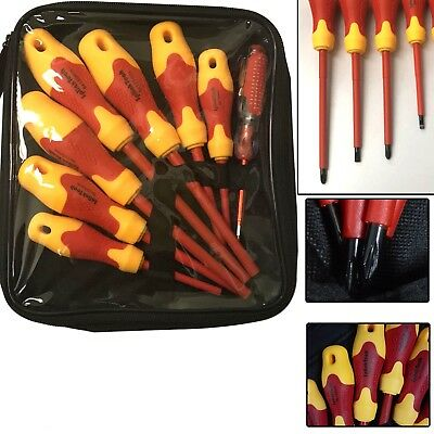 1000V Insulated Magnetic Tip Electrician Ratchet Screwdriver Set Mobile Repair