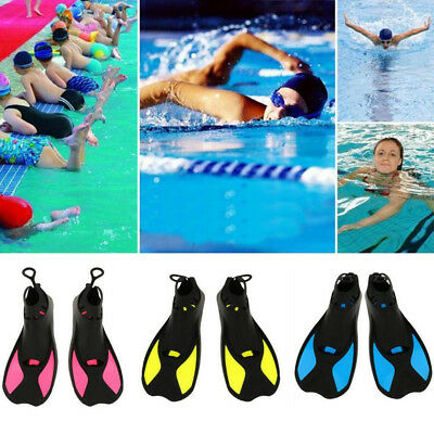 BL_ Kids Adults Full Foot Water Fins Diving Swim Training Learning Flippers Eyef
