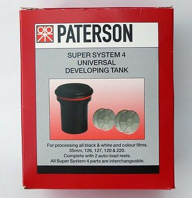 Paterson PTP115 Super System 4 Universal Film Developing Tank c/w 2 Reels