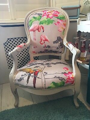 Flamingo Vintage Louis French Chair Shabby Chic Kitsch Throne Wedding