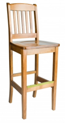 Custom Solid Wood Restaurant Barstool - Made In Canada