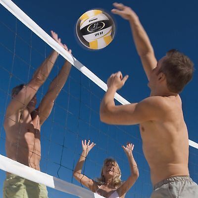 Ultimate 32 Ft Net Volleyball Sports Kit Outdoor Game Play Set w/ Carry Bag New